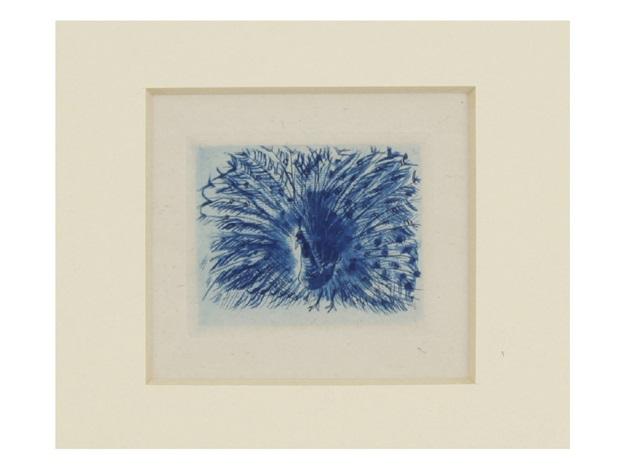 henry chaumet, animal friends, peacock by léonard tsuguharu foujita