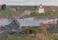 vue d'une église by nikolai efimovich timkov