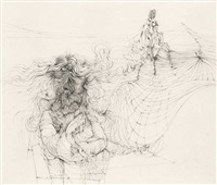 3 kupferstiche (portfolio of 3 works, various sizes) by hans bellmer