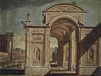 an architectural capriccio by viviano codazzi