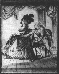 david garrick and mrs. anne springer in 'the wonder' by william wellings