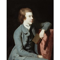 young man holding a book by joshua reynolds