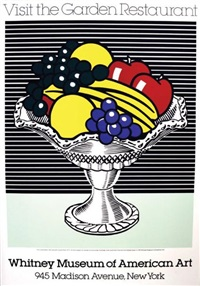 visit the garden restaurant - whitney museum of american art by roy lichtenstein