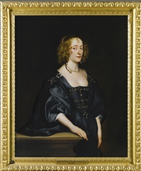 portrait of frances devereux, countess of hertford, and later duchess of somerset by sir anthony van dyck