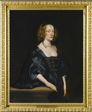 portrait of frances devereux countess of hertford and later duchess of somerset by sir anthony van dyck