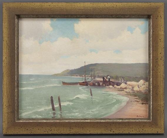 figures on a pier by porfirio salinas