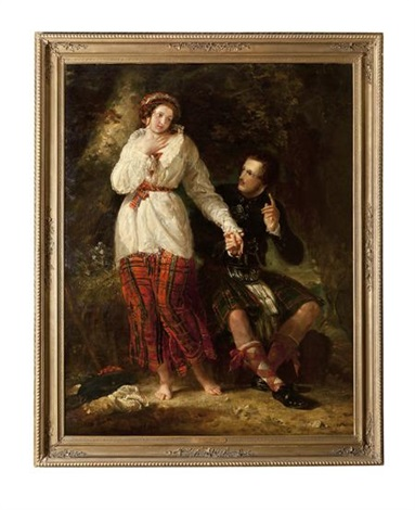 queen victoria and prince albert as highland lovers by benjamin robert haydon