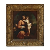 madonna and child with the boy saint john the baptist by lodovico carracci