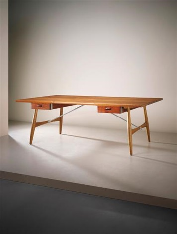 large 'architect's desk', model no. jh57 by hans j. wegner