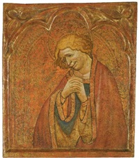 a weeping male saint by spanish school (15)