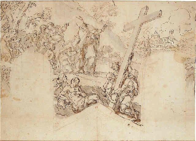 the invention of the cross by anton domenico gabbiani