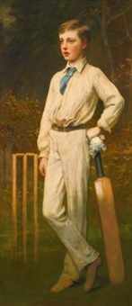 portrait of a young cricketer by james sant