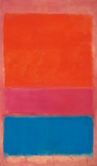 no. 1 (royal red and blue) by mark rothko