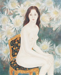 lady and flowers by chen shu-chiao