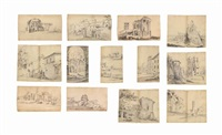 views of rome and its surroundings (album of 255 works) by pieter van bloemen