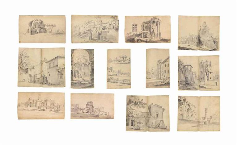 views of rome and its surroundings album of 255 works by pieter van bloemen