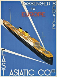 passenger service to europe, east asiatic co. by t.b.