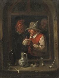 the rhetoricians at a window by egbert van heemskerck