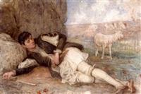 shepherd resting by polychronis lembessis