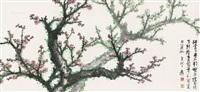 梅香枝头 镜片 设色纸本 ( plum blossom) by xie zhiliu
