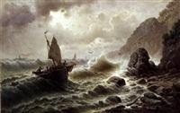 skibe udfor kysten, uvejr by a. dinardo