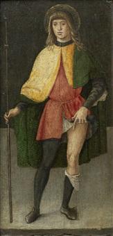 saint liberale; and saint roch (pair) by lazzaro di jacopo bastiani