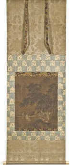 wang xizhi beim tausch einer kalligraphie für zwei gänse by anonymous-chinese (15)