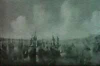 la bataille de lepante by andries van artvelt (ertvelt)