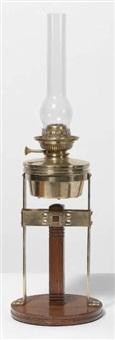 lampe à pétrole de table by gustave serrurier-bovy
