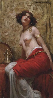 seated odalisque by allan douglas davidson