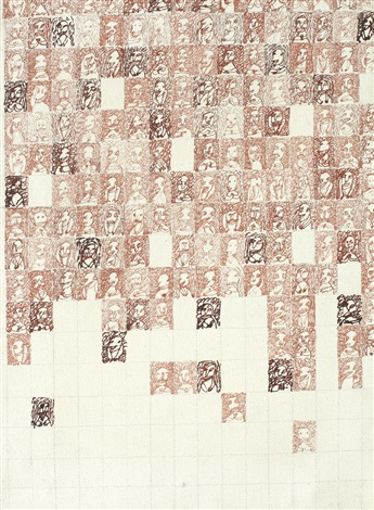 anthropogramming canvases by dan perjovschi