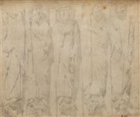 sculptures du portail sud de la cathédrale de chartres by eugène delacroix