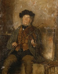 the violin player by carl bragger