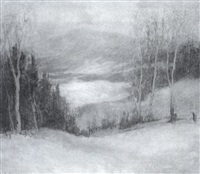 untitled - laurentian winter by mary alberta cleland