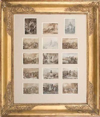 principaux épisodes de la vie de lempereur napoléon ier de ses batailles et de son règne set of 15 collab whenry scheffer by j alp testard