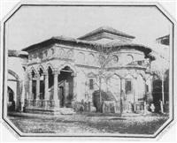 bukarest. barriques adossées à une chapelle by ludwig angerer