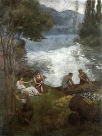 le retour de la pêche by louis humbert