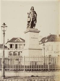 chartres, la statue de marceau, ca.1852 by charles nègre