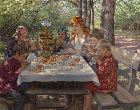 the teachers guests by nikolai petrovich bogdanov belsky