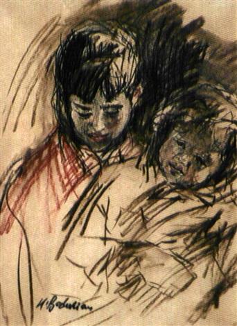 les deux enfants by krikor bedikian