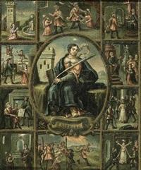 scènes de la vie de sainte barbe by portuguese school (17)