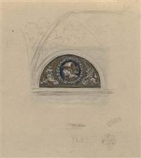 group of 7 drawings by elihu vedder