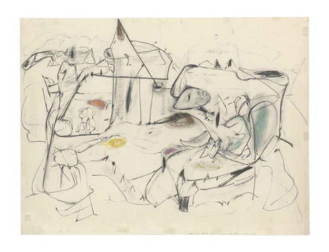 study for agony by arshile gorky