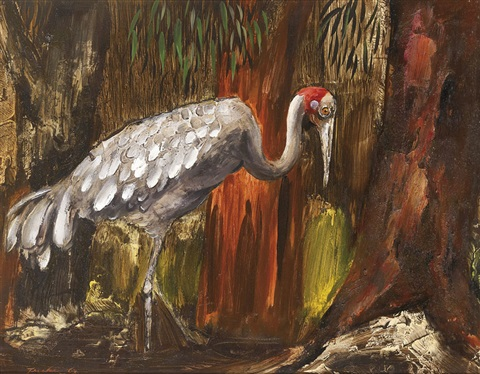 brolga by albert lee tucker
