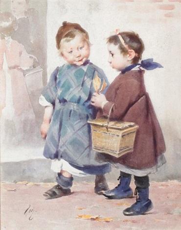 les enfants au panier ou la rentrée des classes by henry jules jean geoffroy