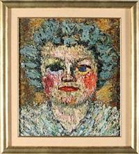 portret żony artysty - zofii russek-żebrowskiej by adam zebrowski