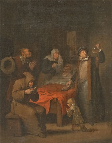 der arzt am krankenbett by egbert van heemskerck the elder