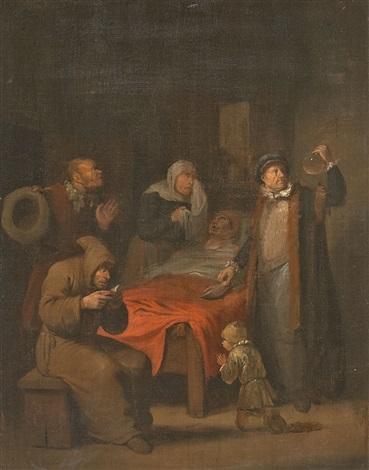 der arzt am krankenbett by egbert van heemskerck the elder