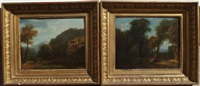 paysages animés (pair) by jean victor bertin
