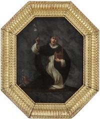 saint dominique tenant la maquette d'une église by giovanni andrea (il mastelletta) donducci
